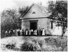 The schoolhouse in it's infancy: late-1860's